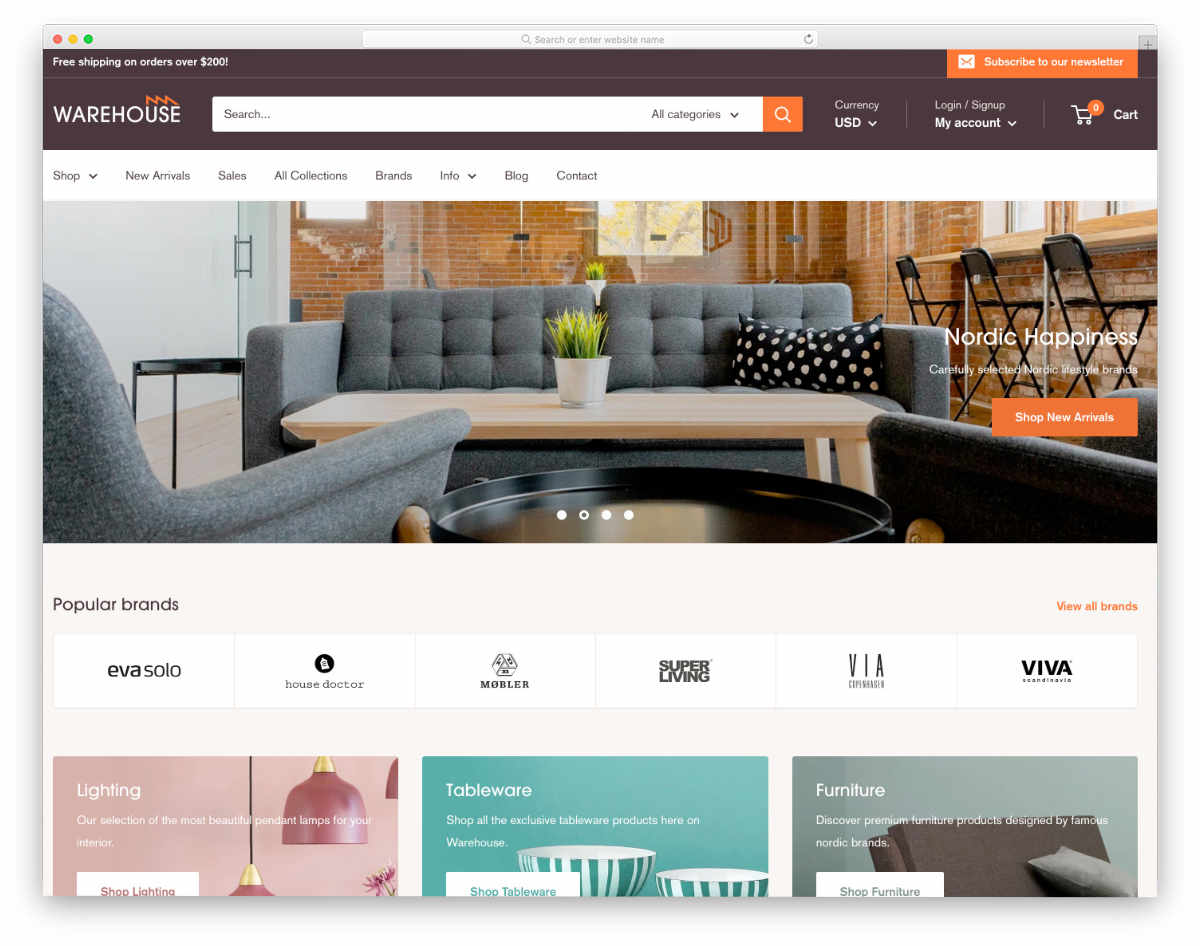 shopify theme for furniture stores