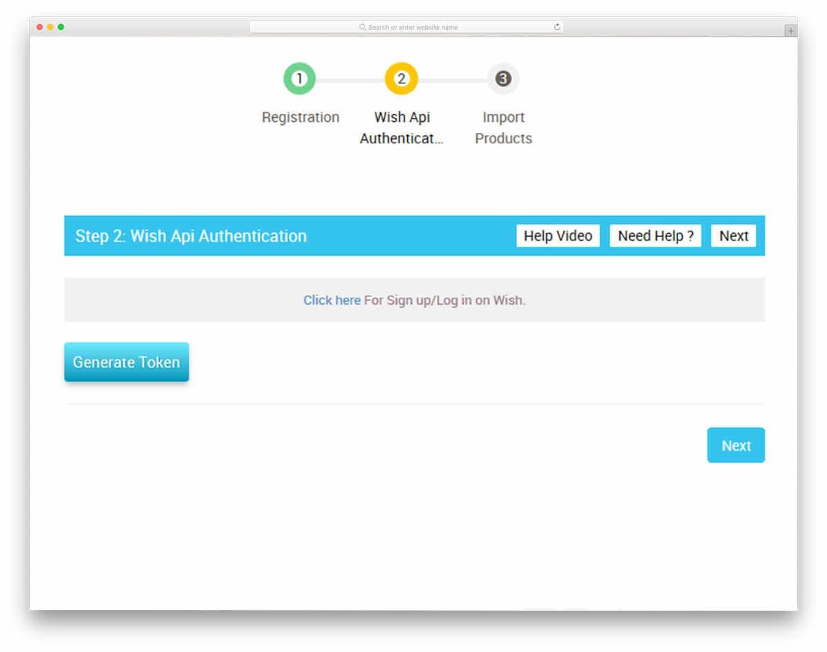 Wish Marketplace app screenshot
