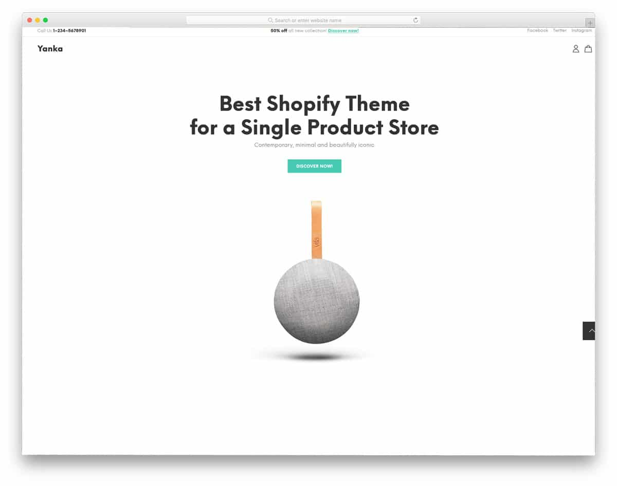 single product shopify themes with minimal design