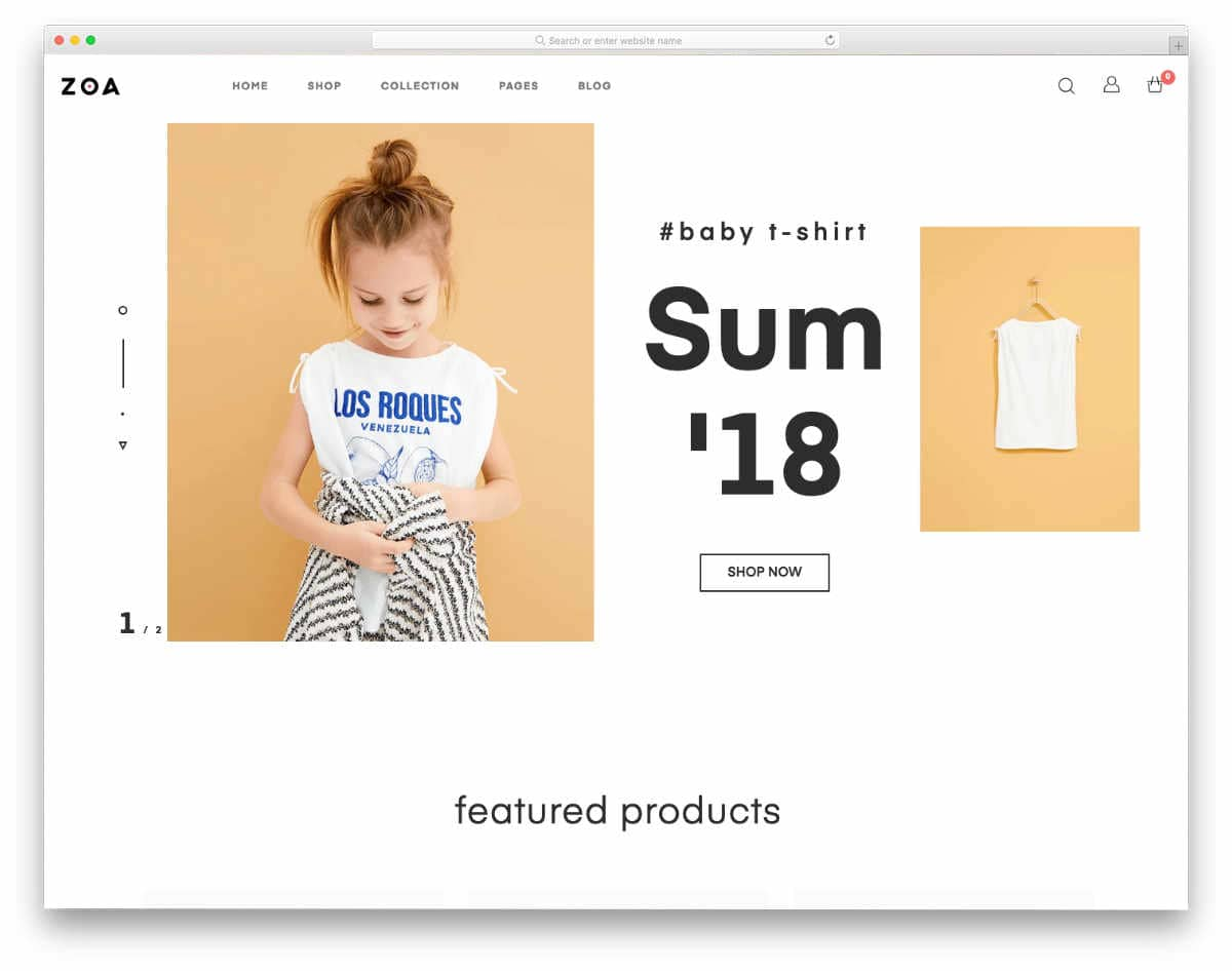 minimal themes with bold typographies