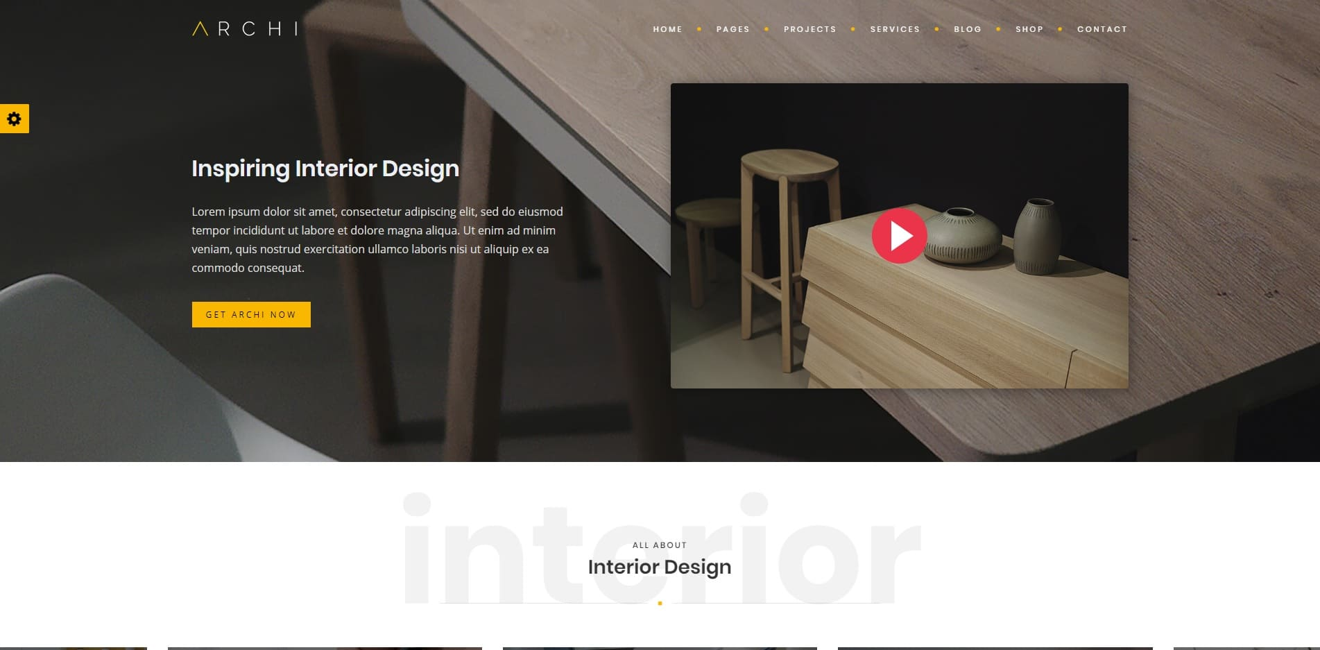 archi personal website template