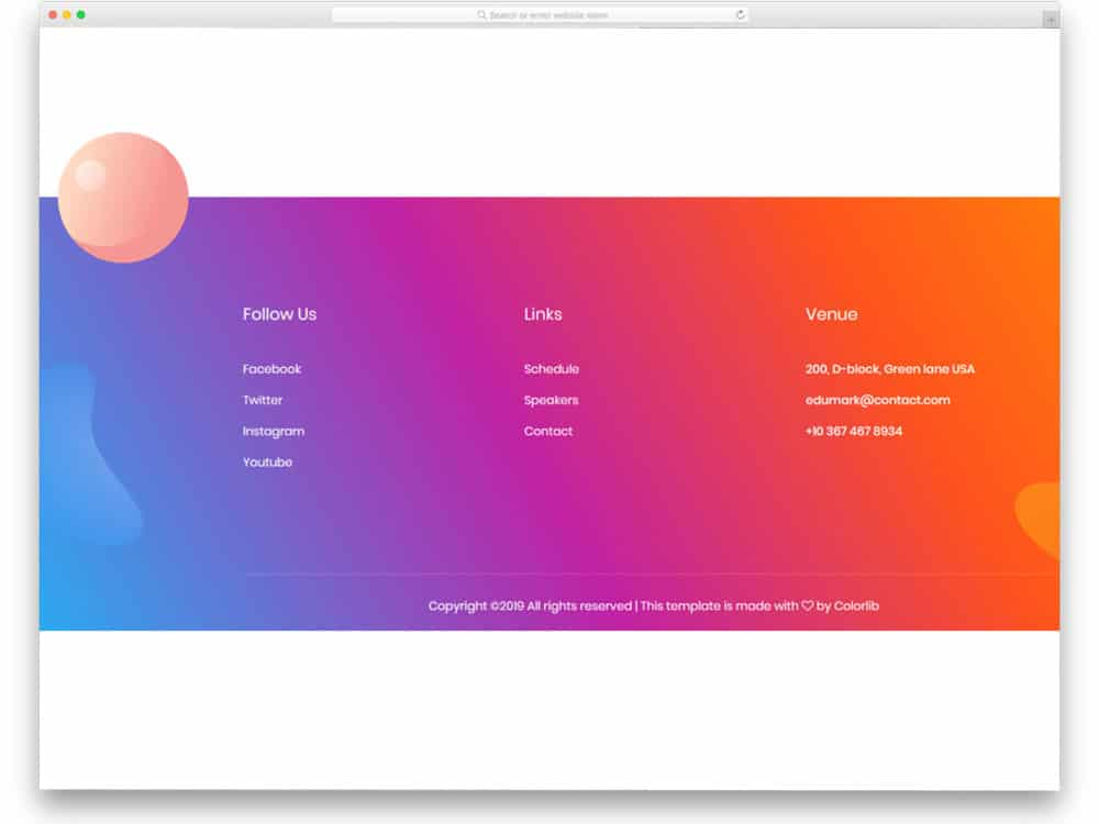 29 Sensibly Designed Bootstrap Footer Examples 2020 - uiCookies