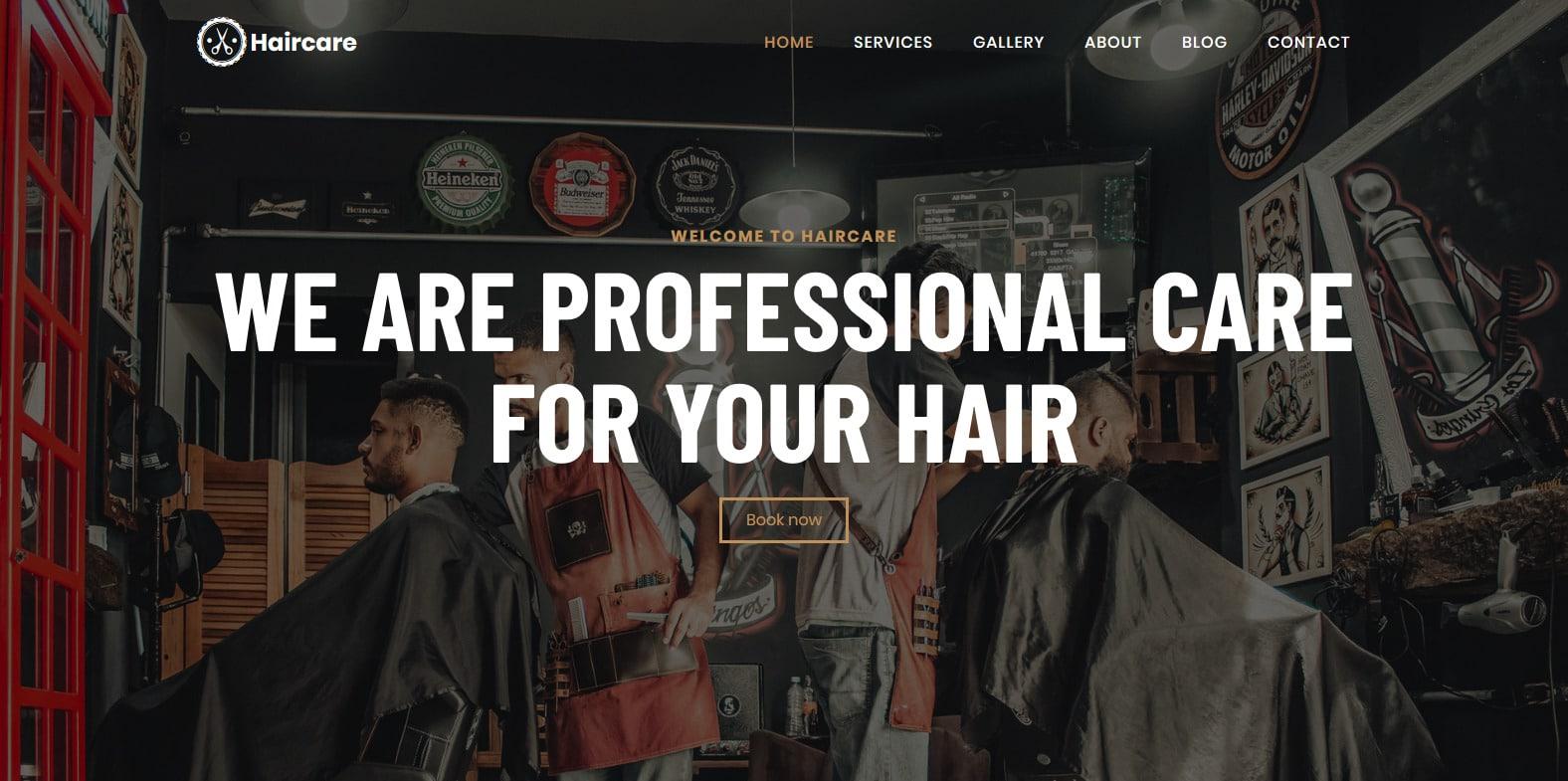haircare-spa-salon-website-template