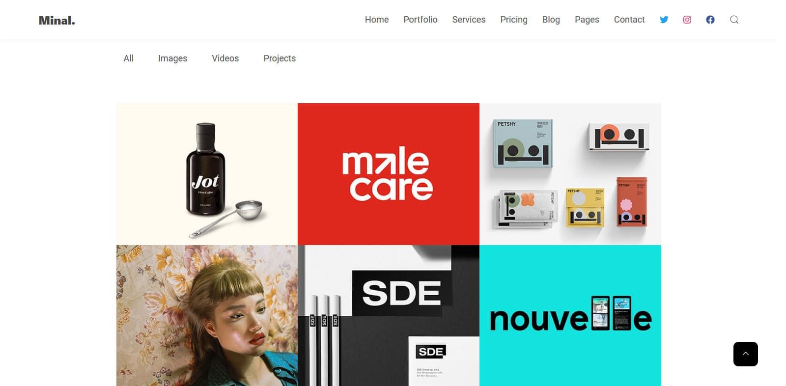 minal-simple-website-template