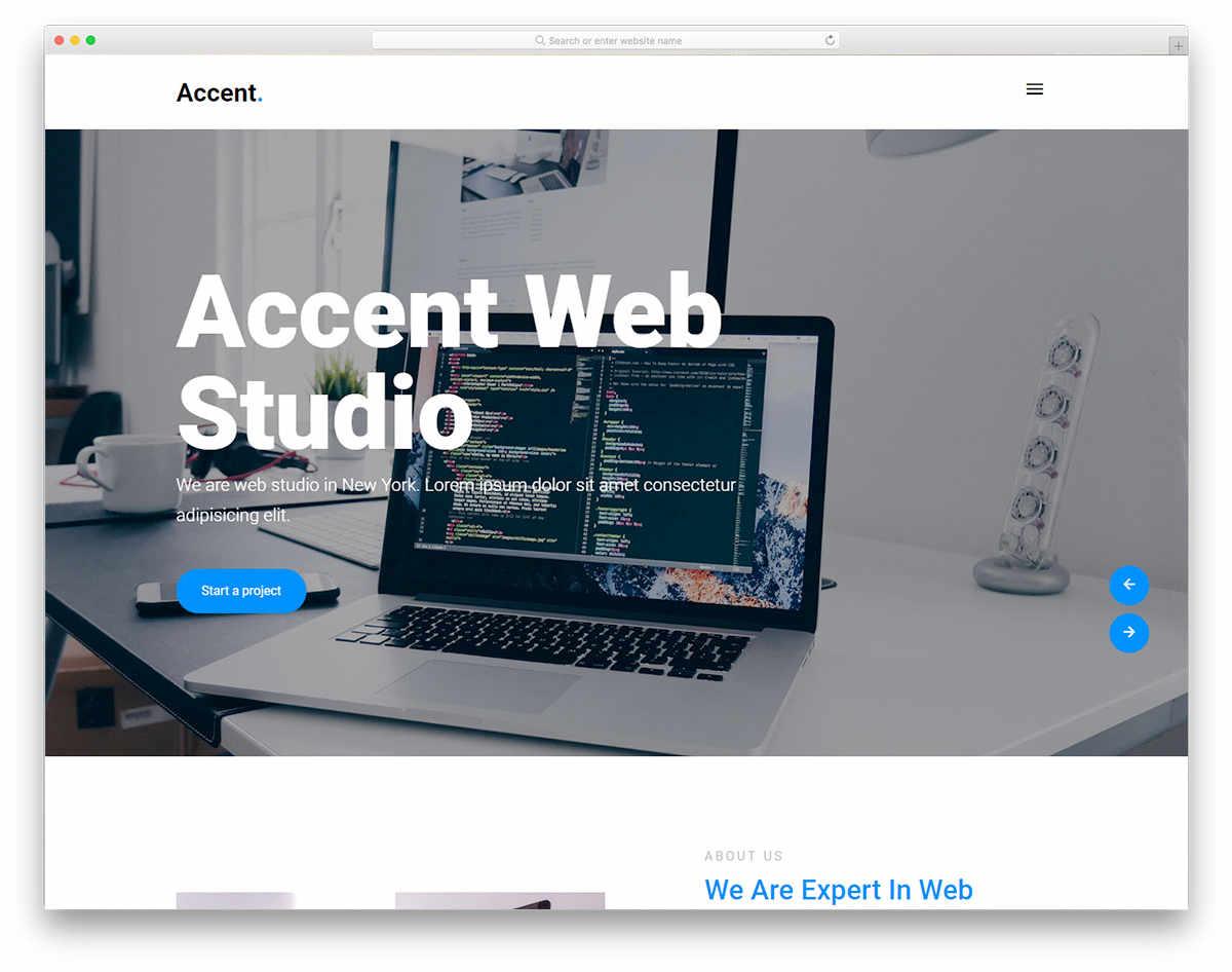 Accent business portfolio template