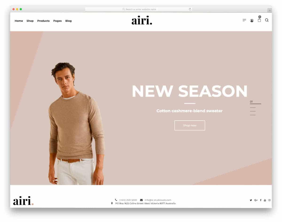 minimal looking fashion store websites