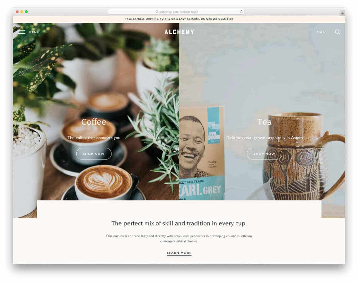 coffee restaurant shopify themes