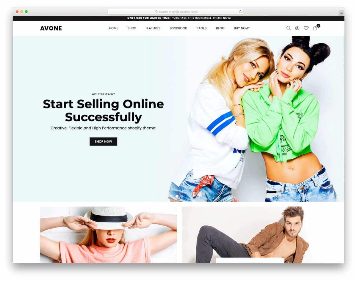 trendy-looking shopify theme