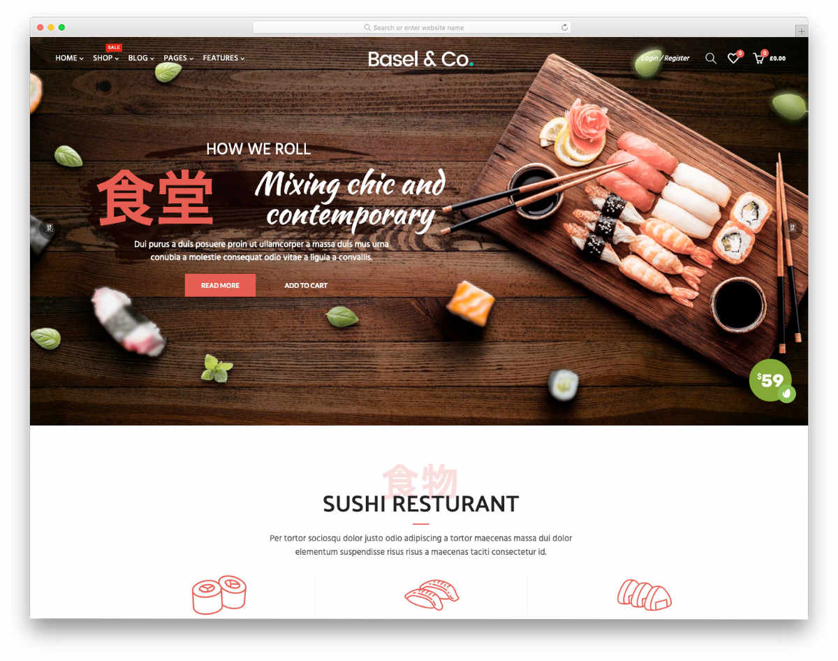 Shopify restaurant themes with useful options