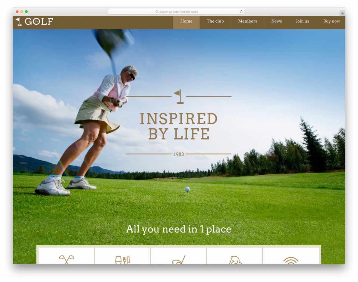 betheme golf demo image