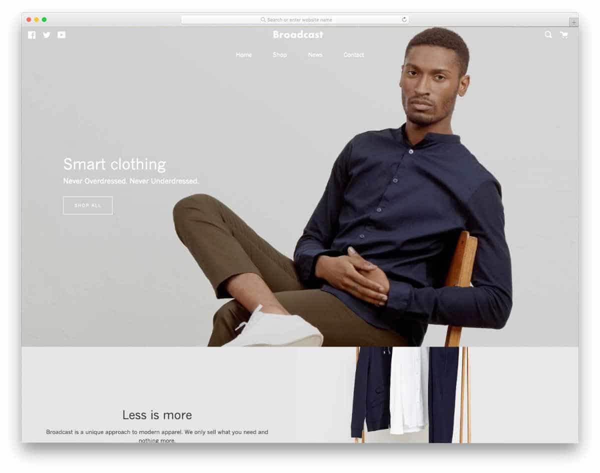 interactive apparel store Shopify theme