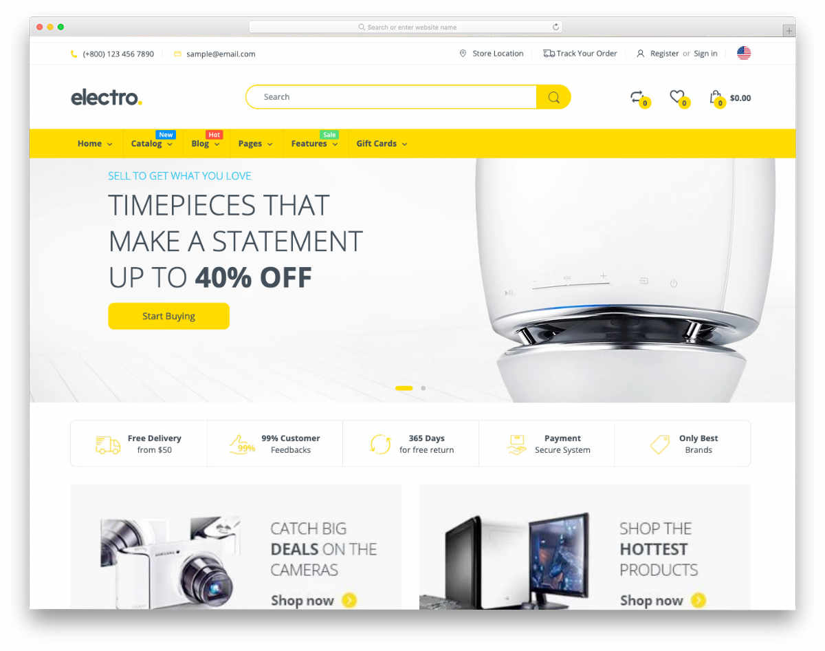 responsive Shopify themes for mega stores