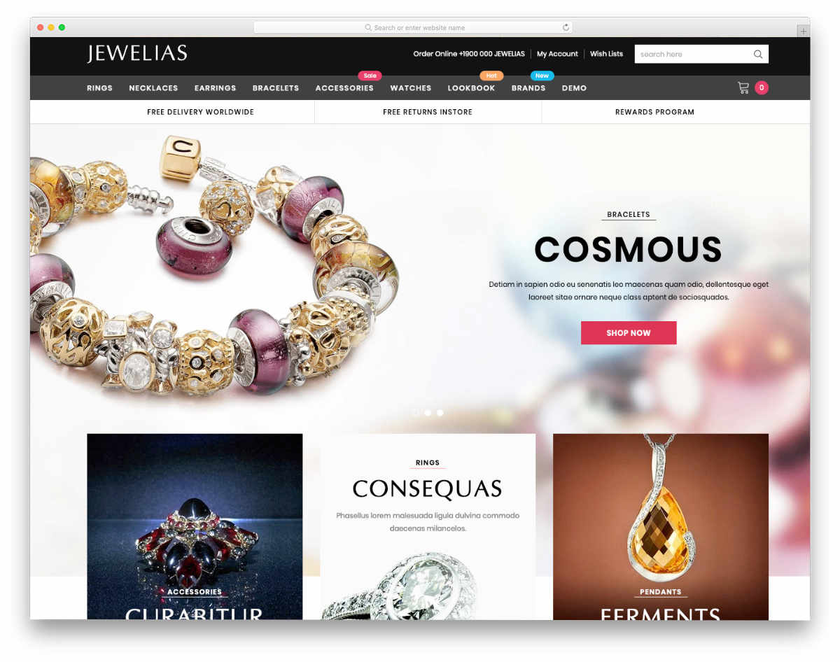 Shopify jewelry themes with multiple demos