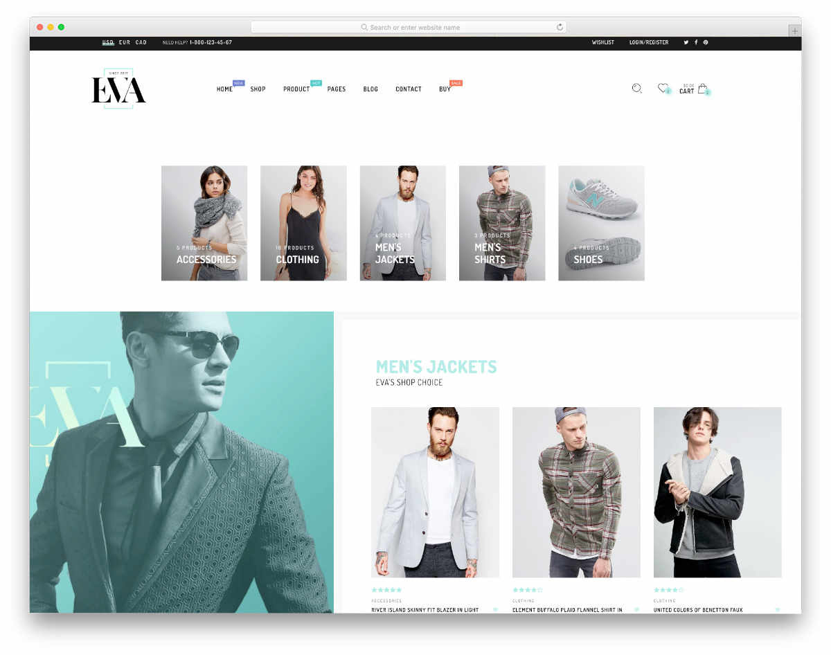 retina shopify themes with a modern design