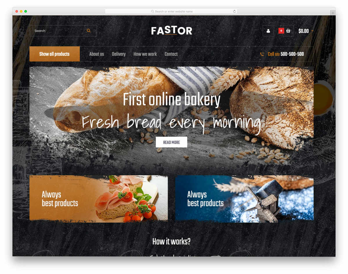 fast-food Shopify restaurant themes