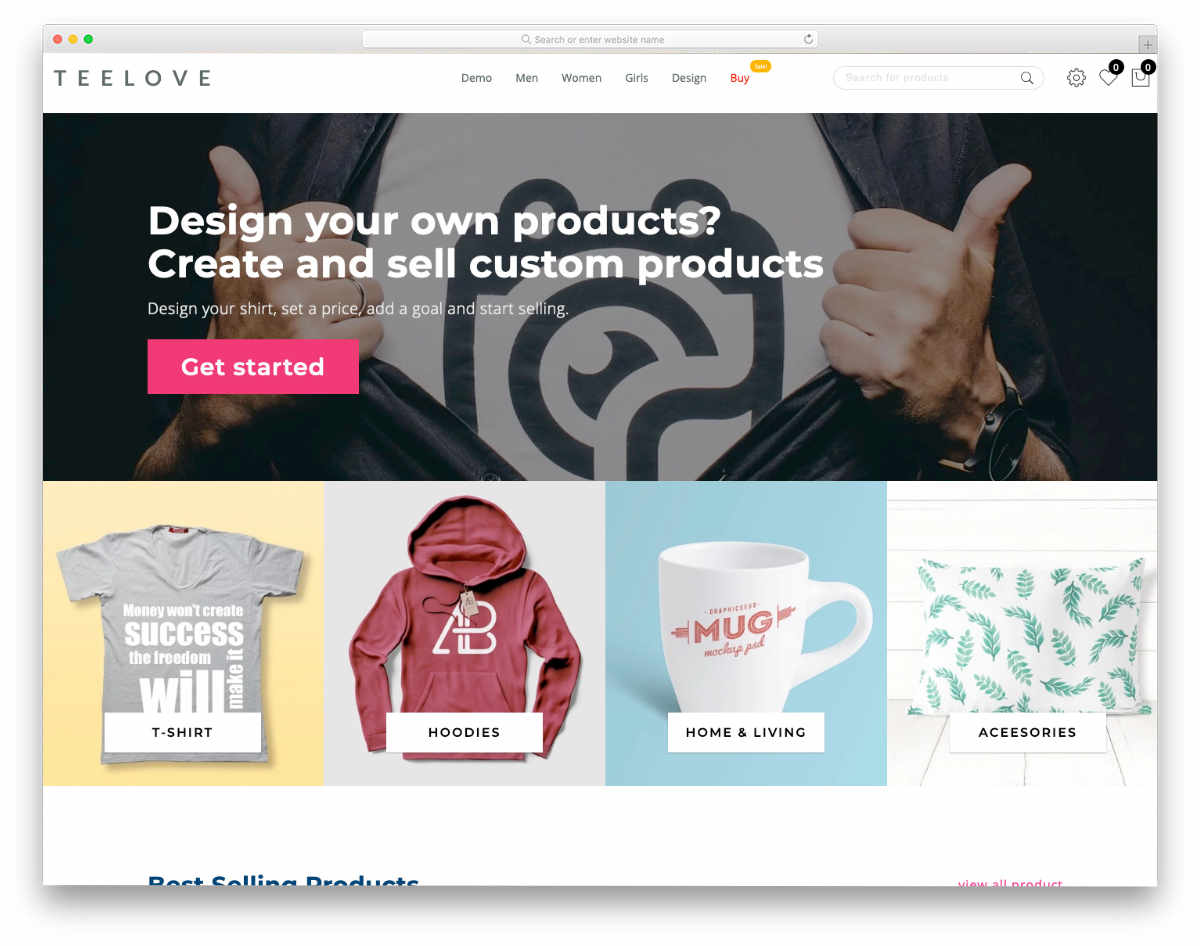 user-friendly Shopify theme for t-shirts