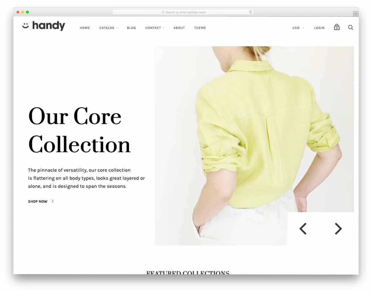 minimalist style shopify themes