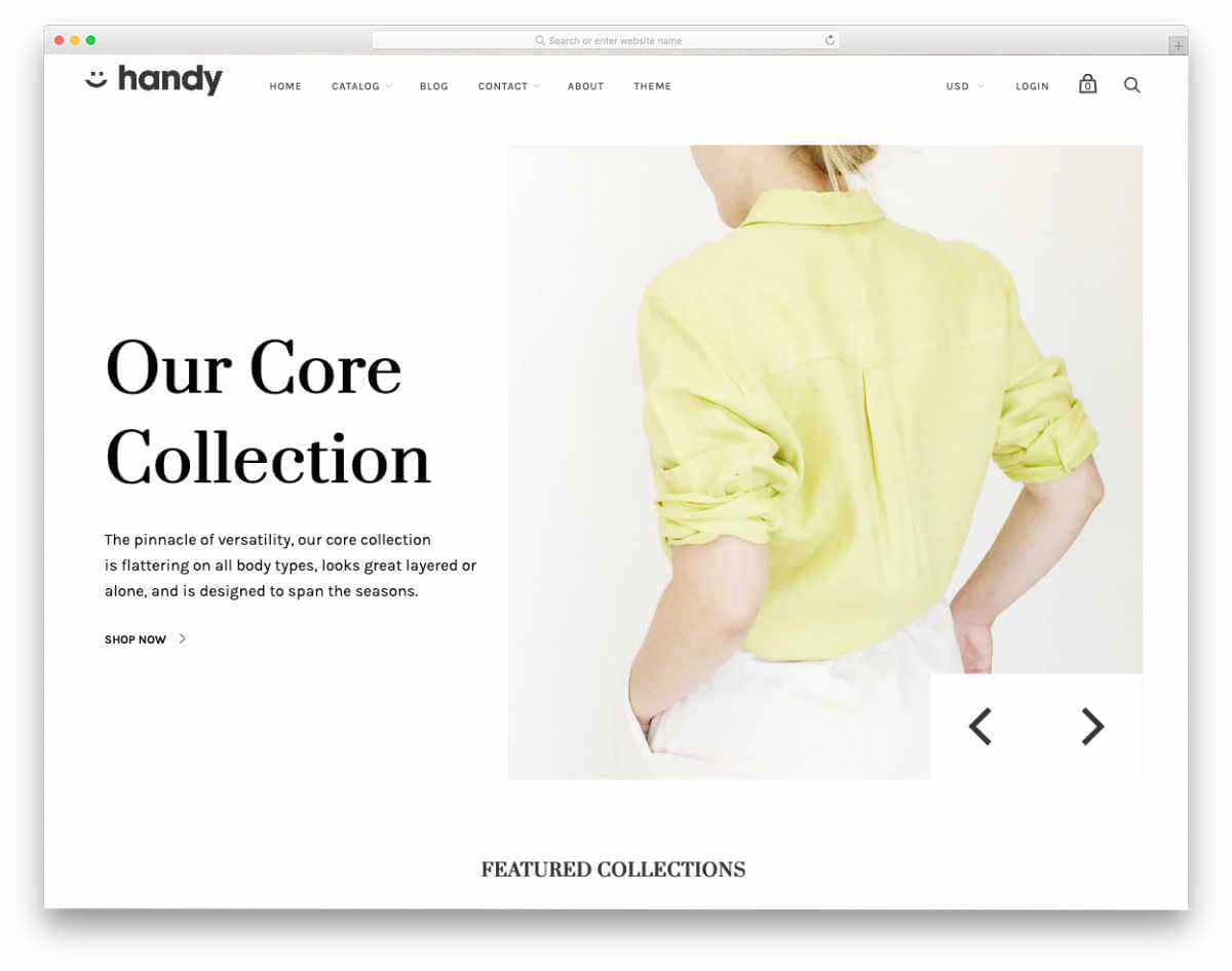 minimal shopify blog theme
