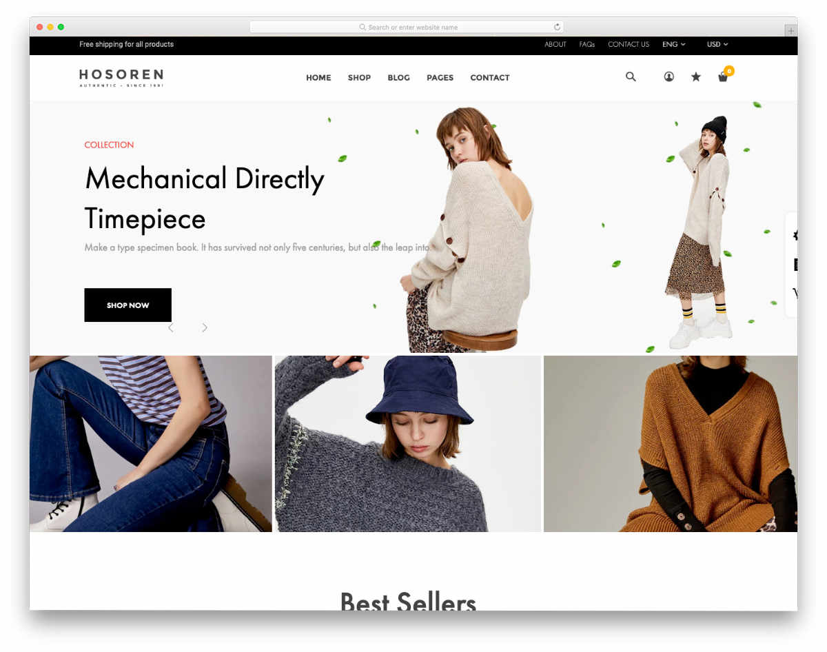 simple and clean shopify themes