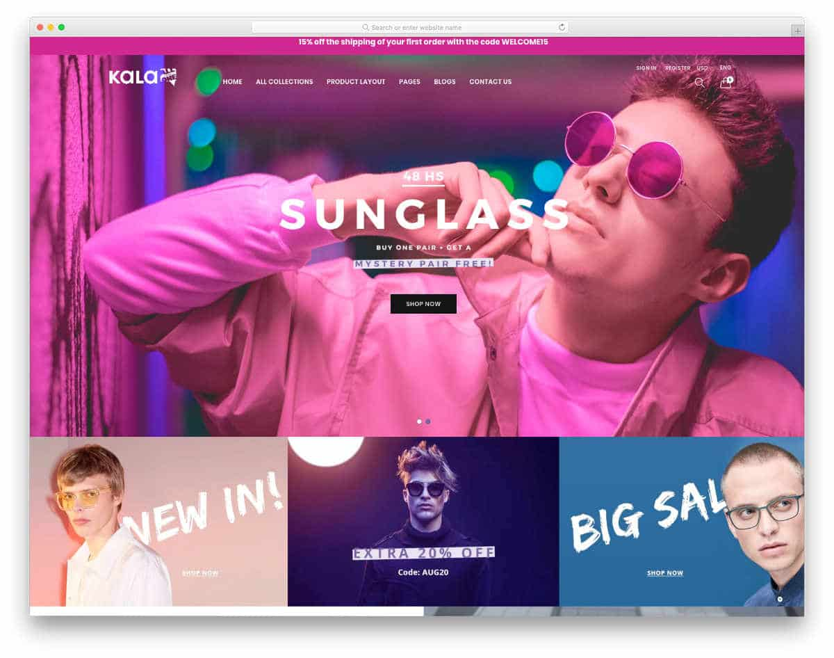 shopify themes with useful features
