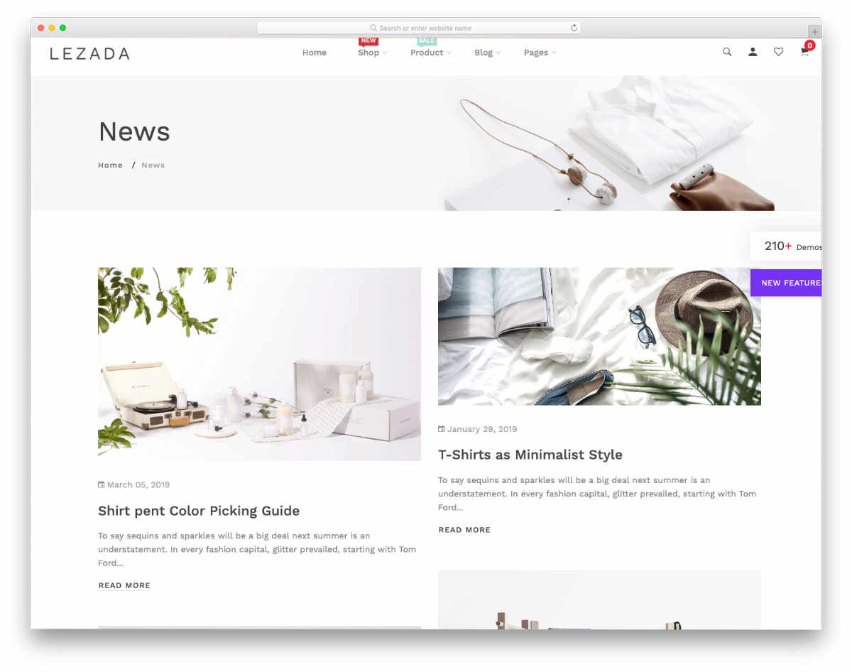 shopify blog themes with multiple layouts