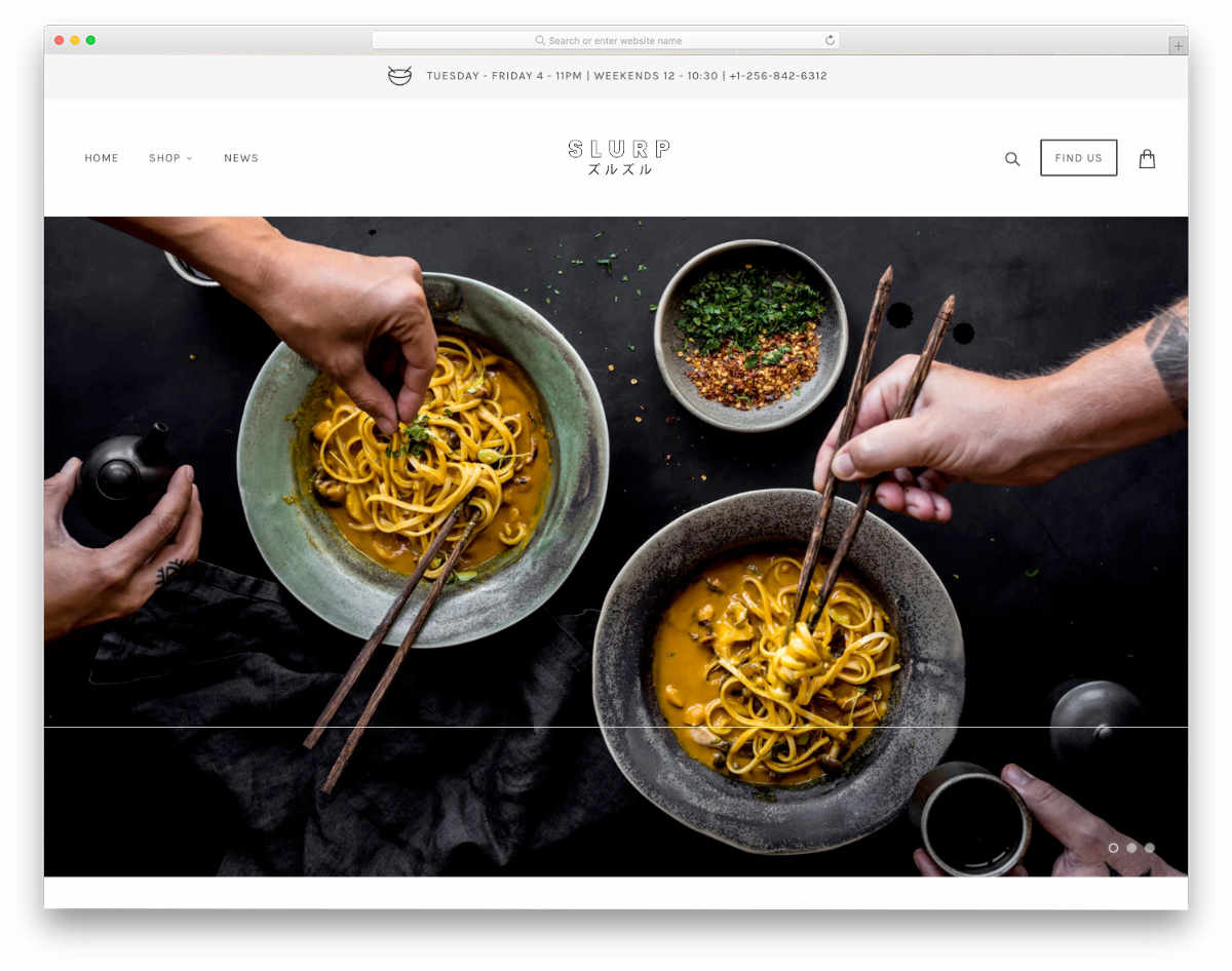 Shopify restaurant themes with a trendy design