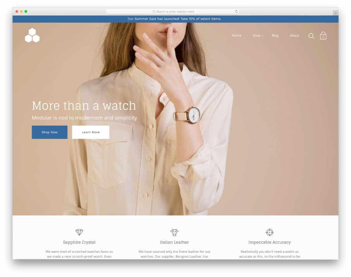 luxury accessory shopify theme