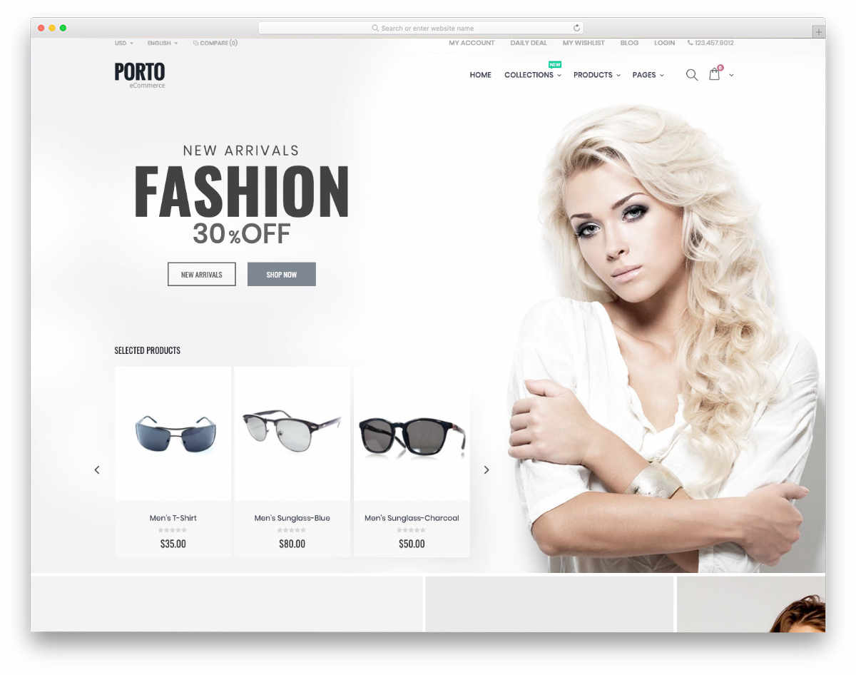 clean and professional looking shopify themes