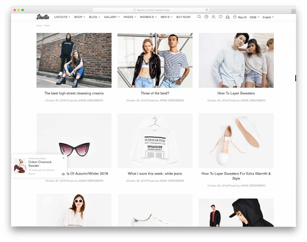 ultra clean blog theme