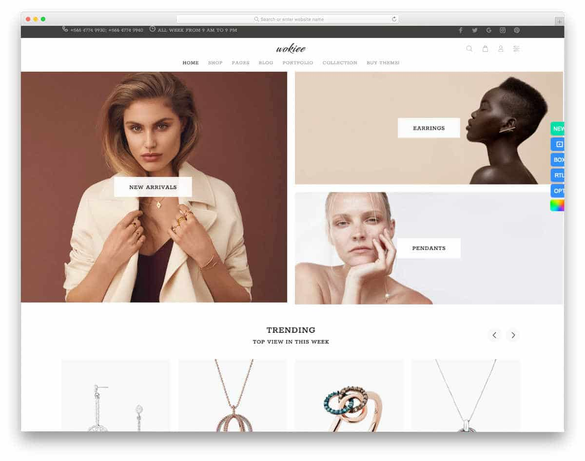 Shopify jewelry themes with useful features