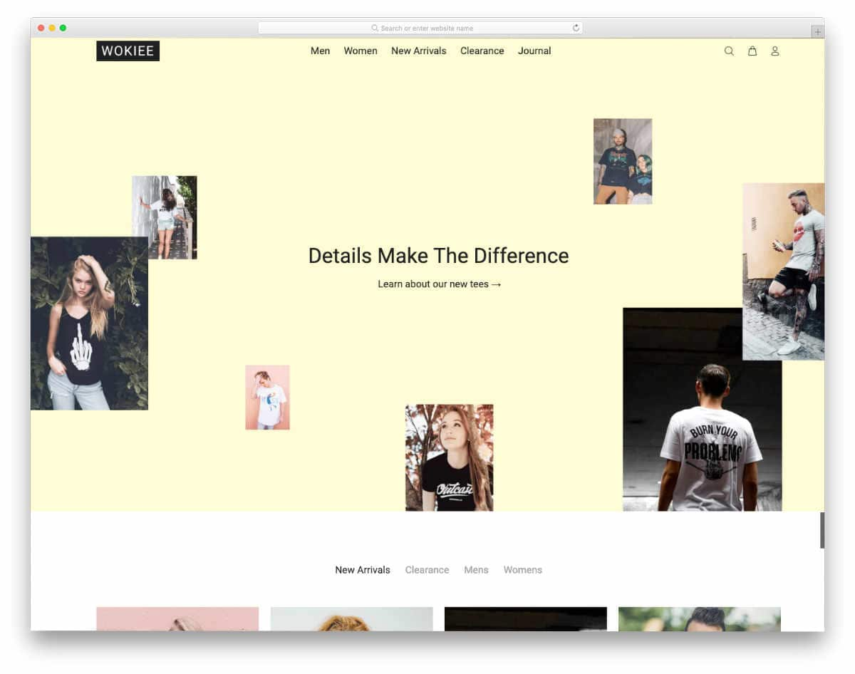Shopify theme for t-shirts with multiple customization options