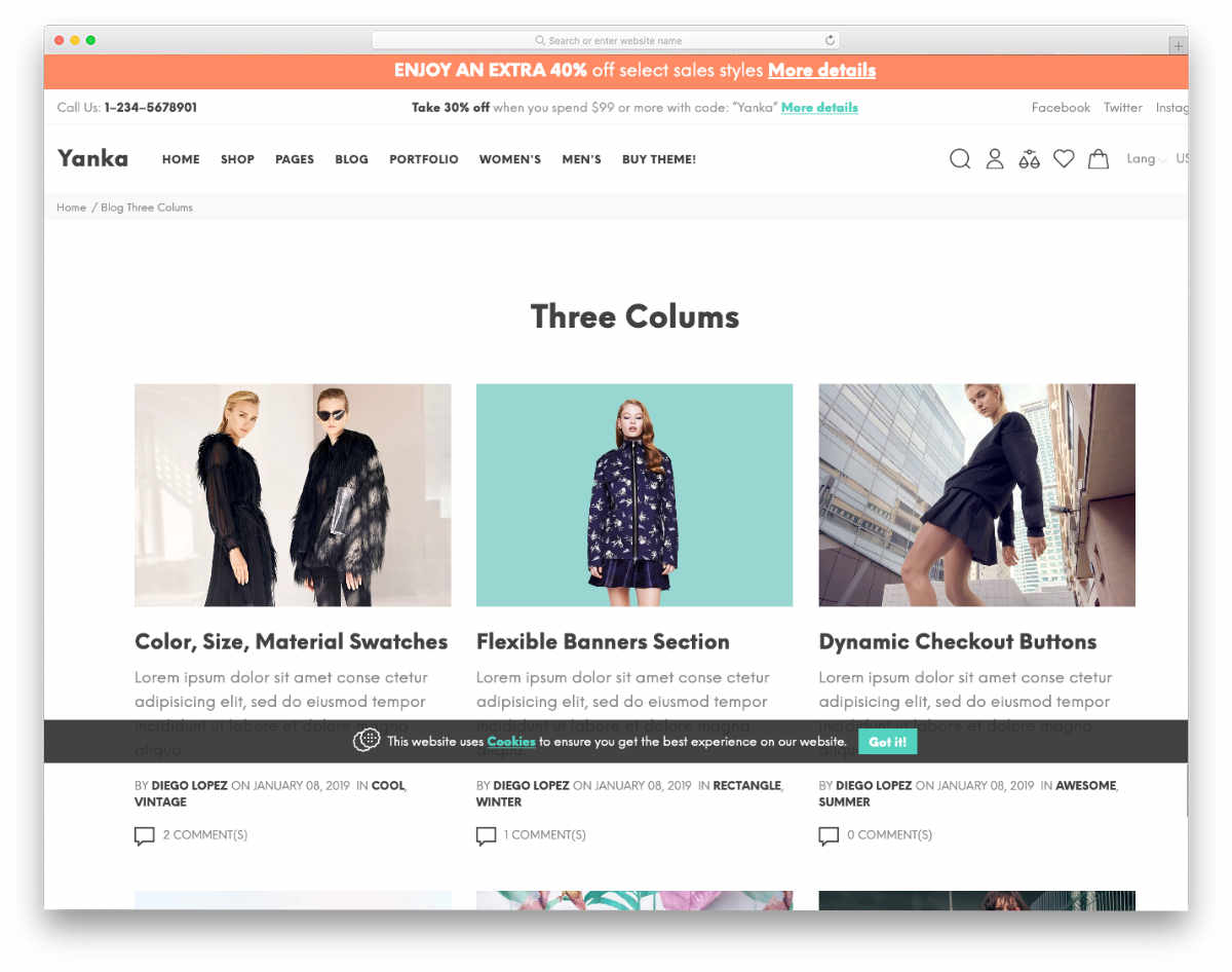 shopify theme with multiple demos