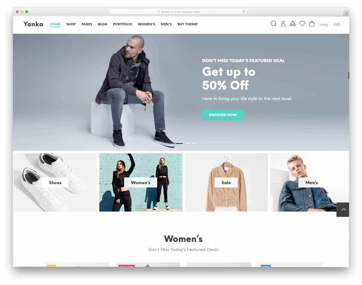 Shopify themes with a trendy design