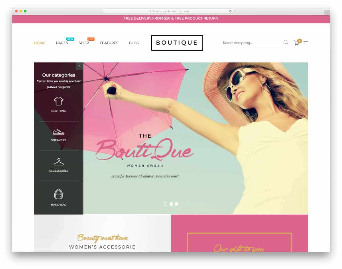 boutique shopify themes with different layouts
