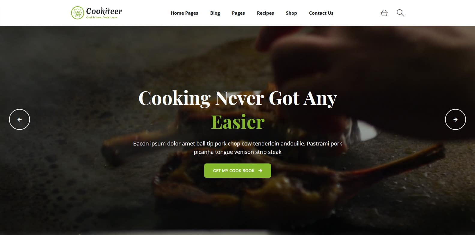 cookiter-food-blog-website