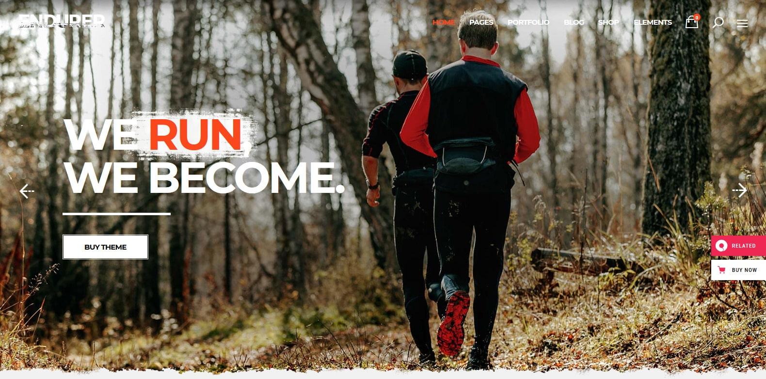 endurer-sports-website-template