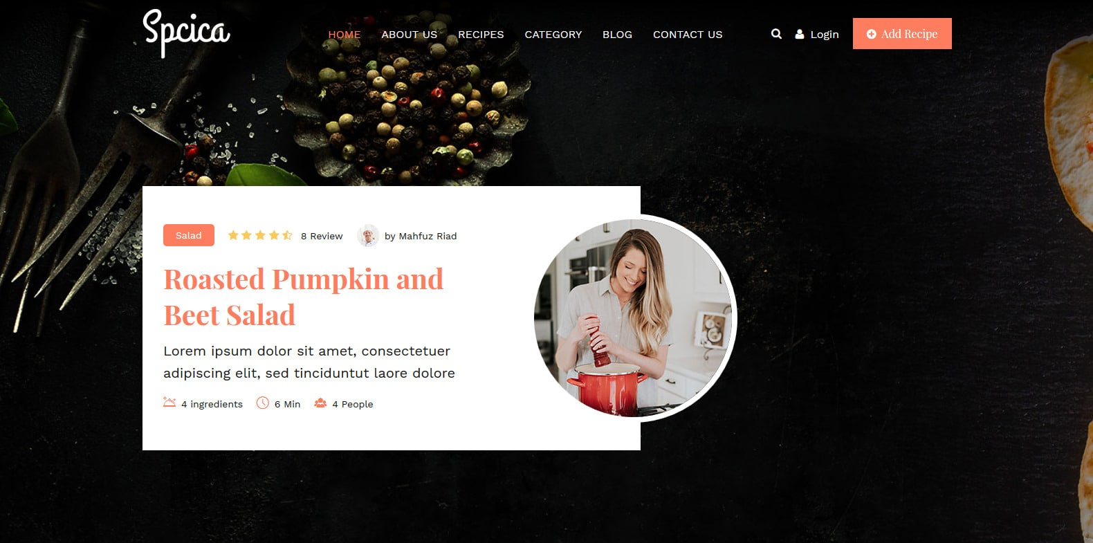 spcica-food-blog-website-template