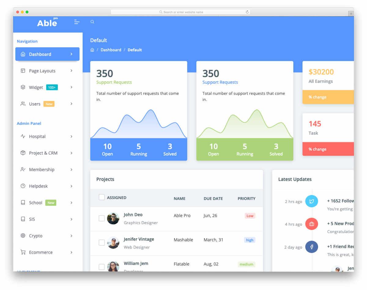 dynamic web application templates
