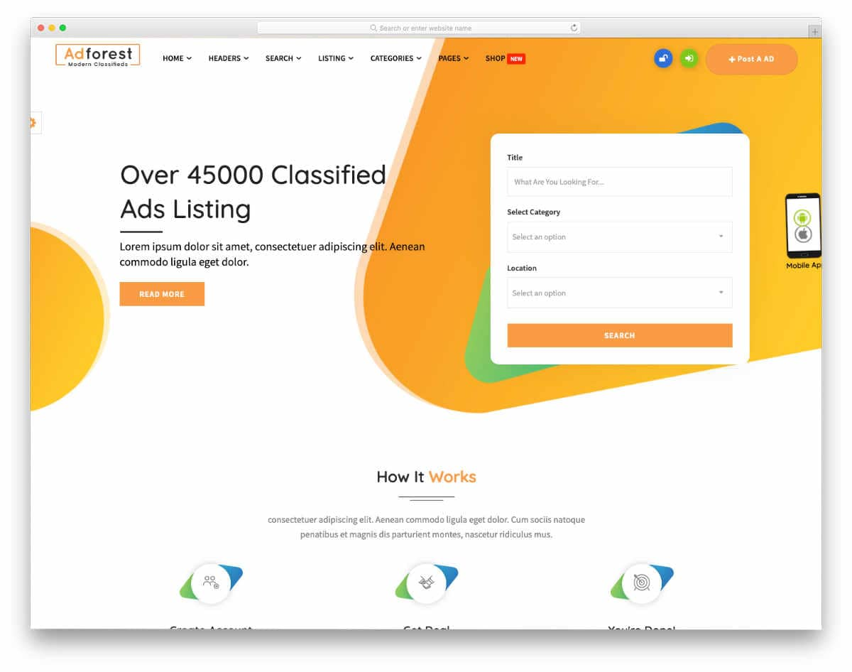 colorful database website templates