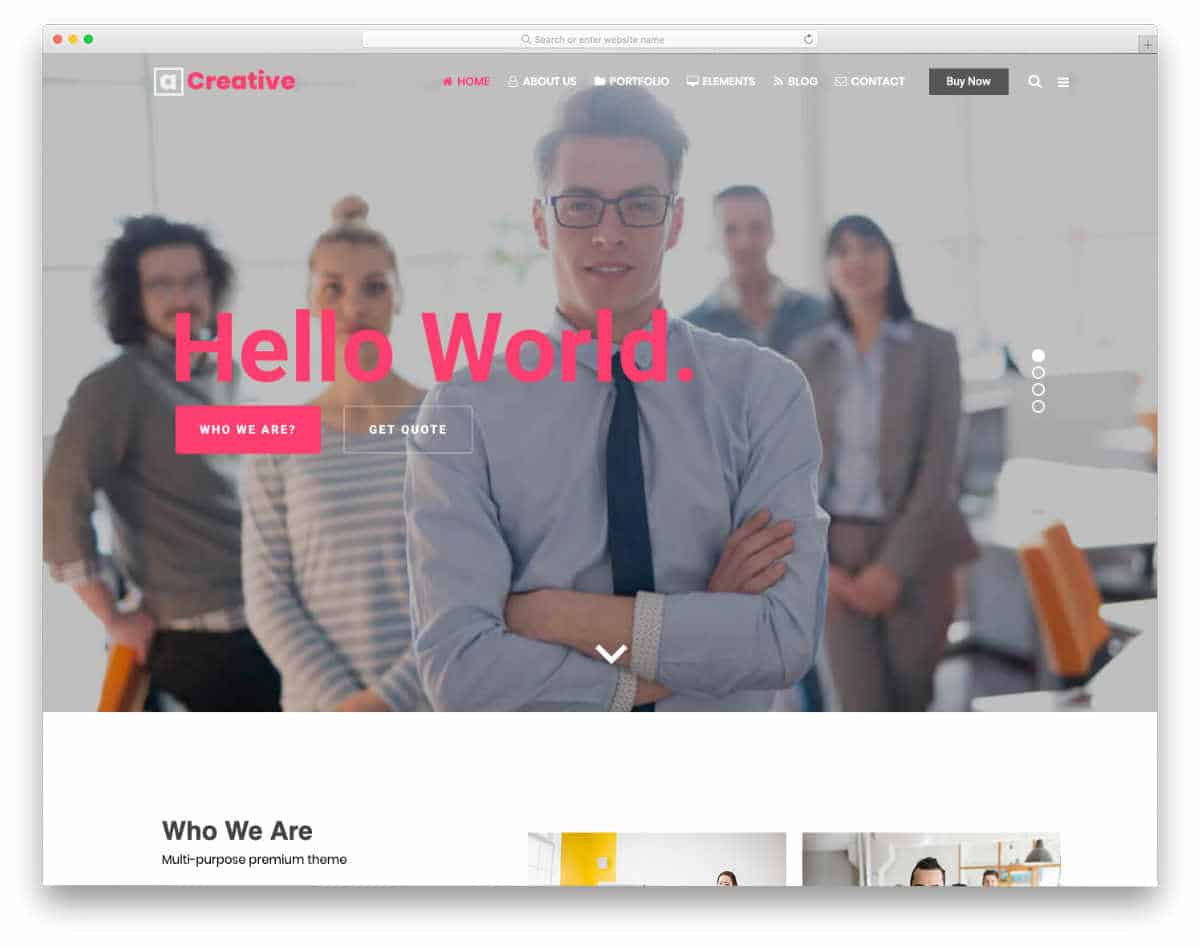 professional looking dynamic website templates