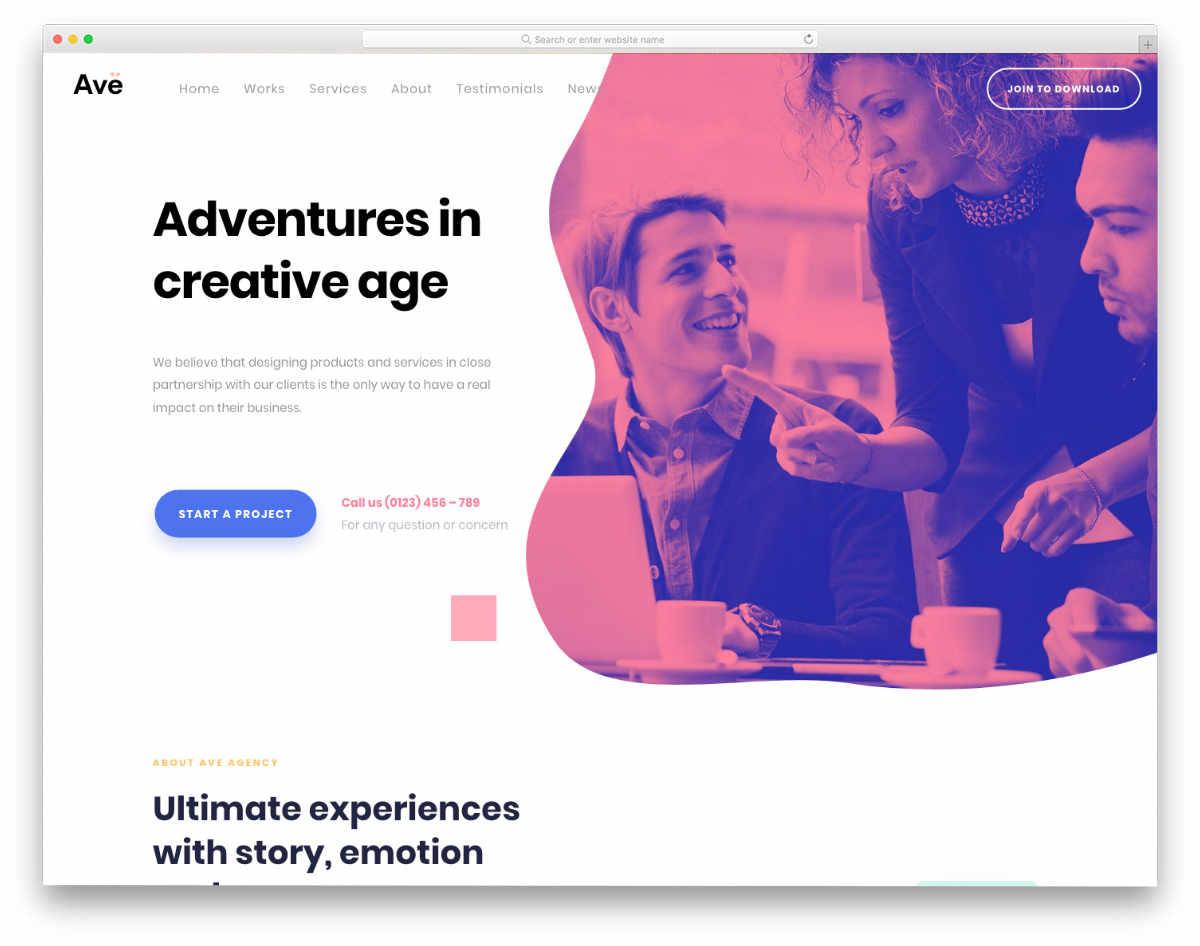 creative website template with multiple demos
