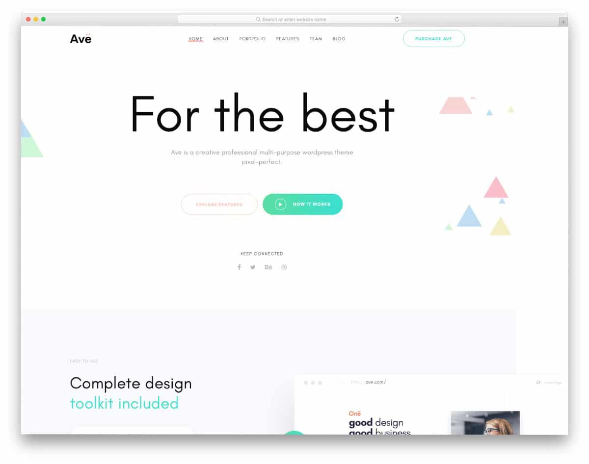 creative website templates