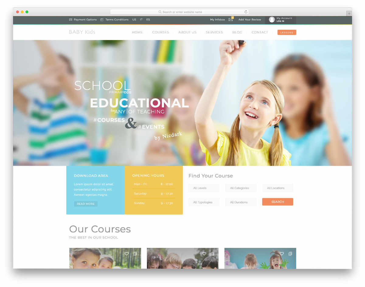 school management system templates for kids school