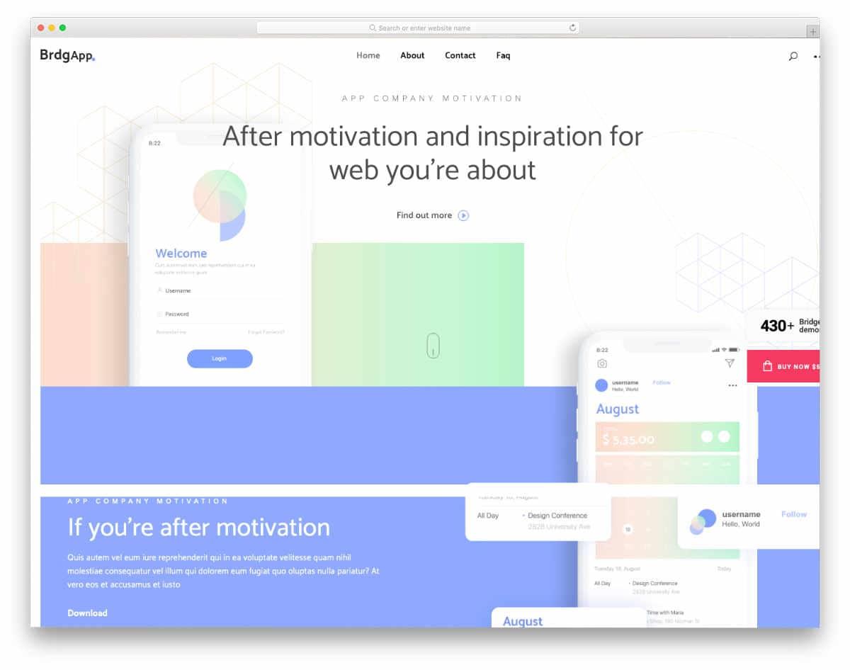website header design templates for app companies