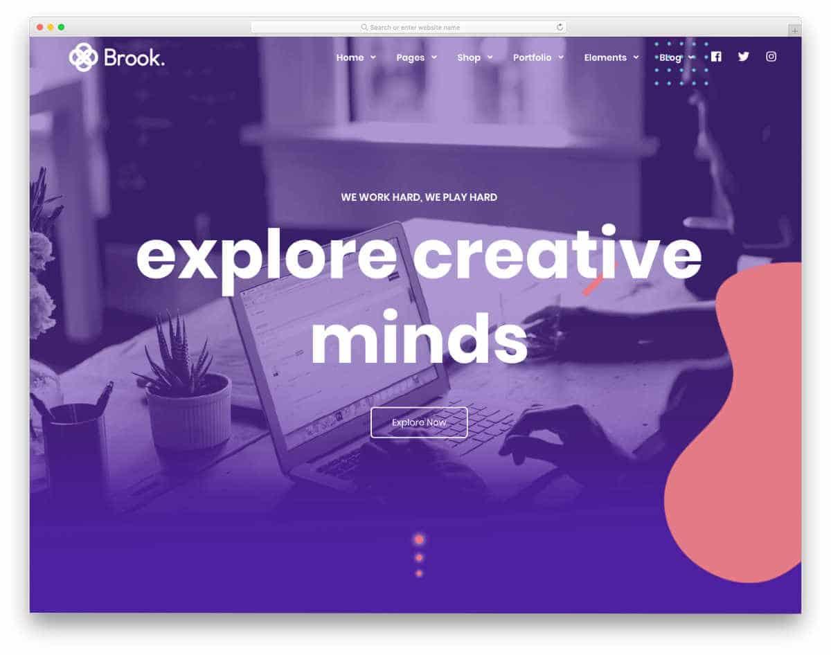 website template for creative agencies