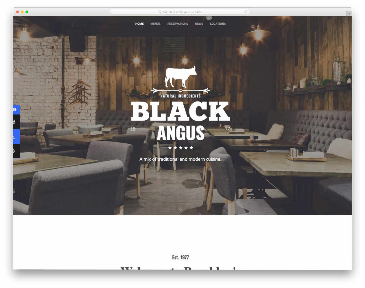 minimal and simple website template