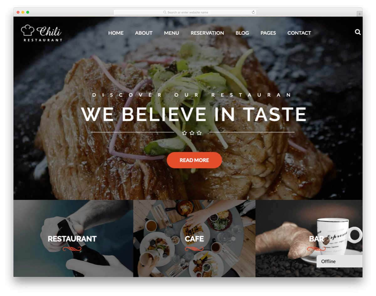 react website templates for restaurants