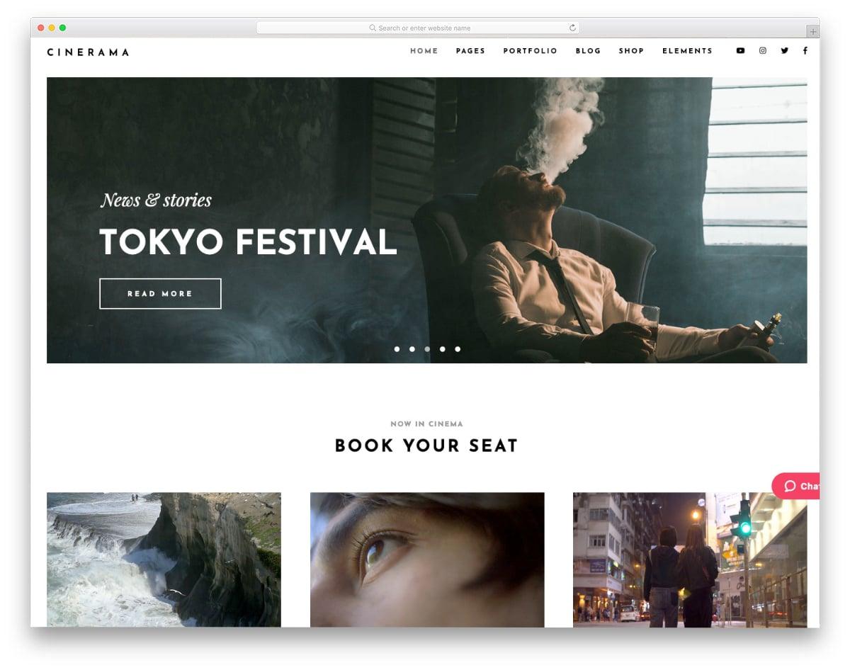 visual studio website templates for film studios