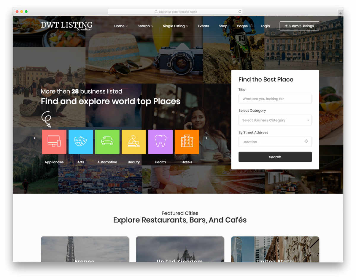 feature-rich website template