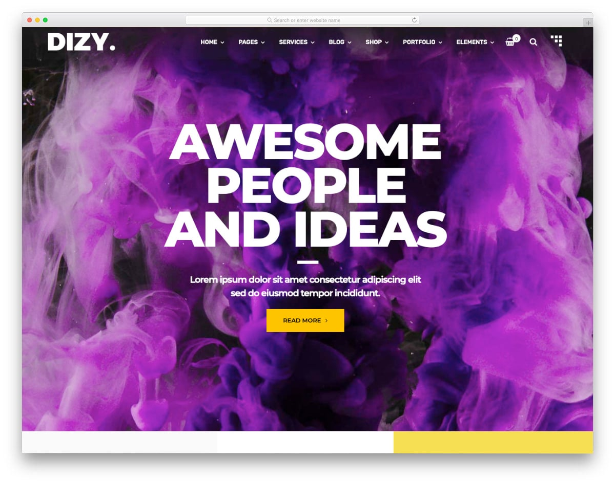 creative and colorful website template